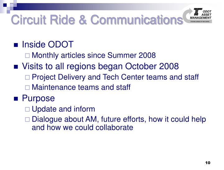 Circuit Ride & Communications