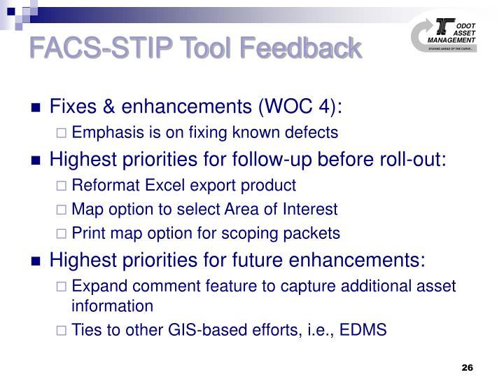 FACS-STIP Tool Feedback