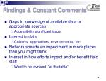 findings constant comments