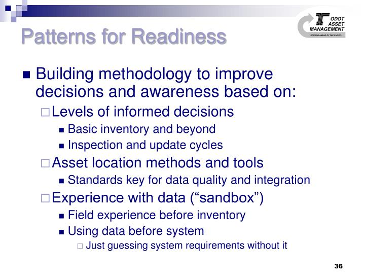 Patterns for Readiness