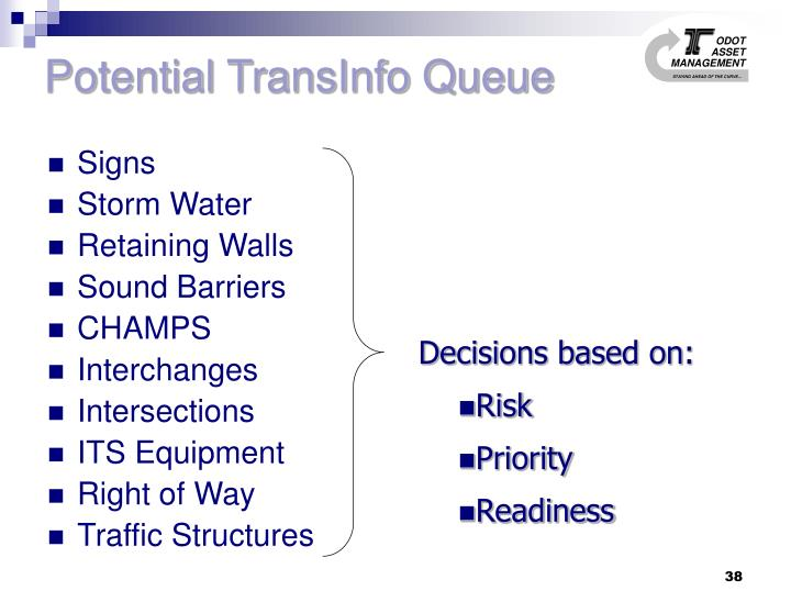 Potential TransInfo Queue