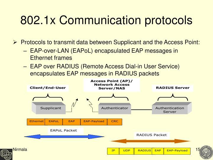 802.1x Communication protocols