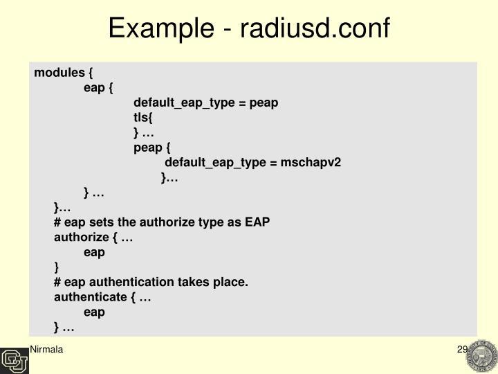 Example - radiusd.conf
