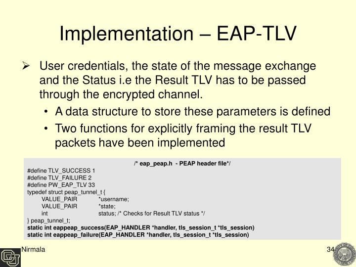 Implementation – EAP-TLV