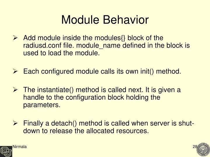 Module Behavior