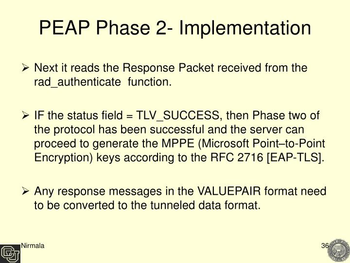 PEAP Phase 2- Implementation