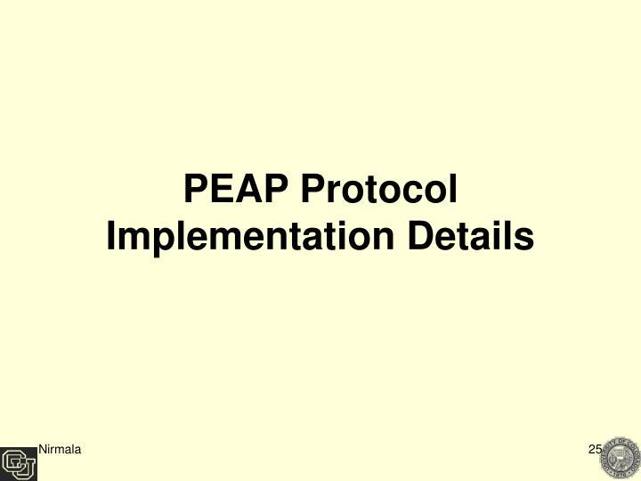 PEAP Protocol Implementation Details