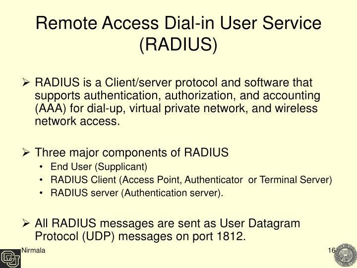 Remote Access Dial-in User Service (RADIUS)