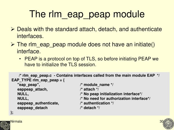The rlm_eap_peap module