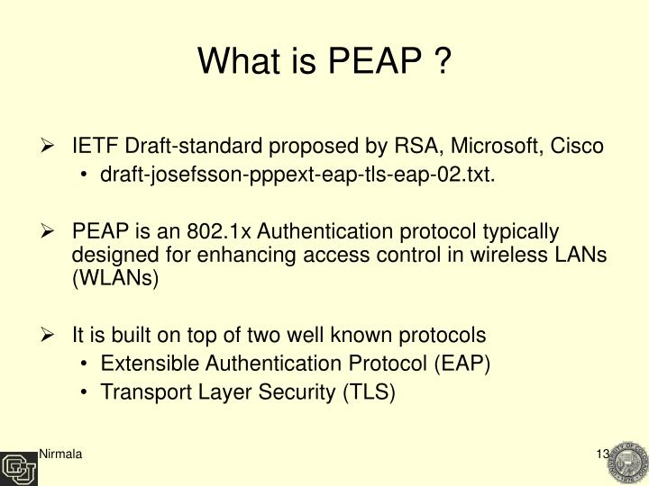 What is PEAP ?