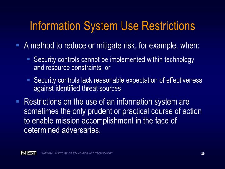 Information System Use Restrictions