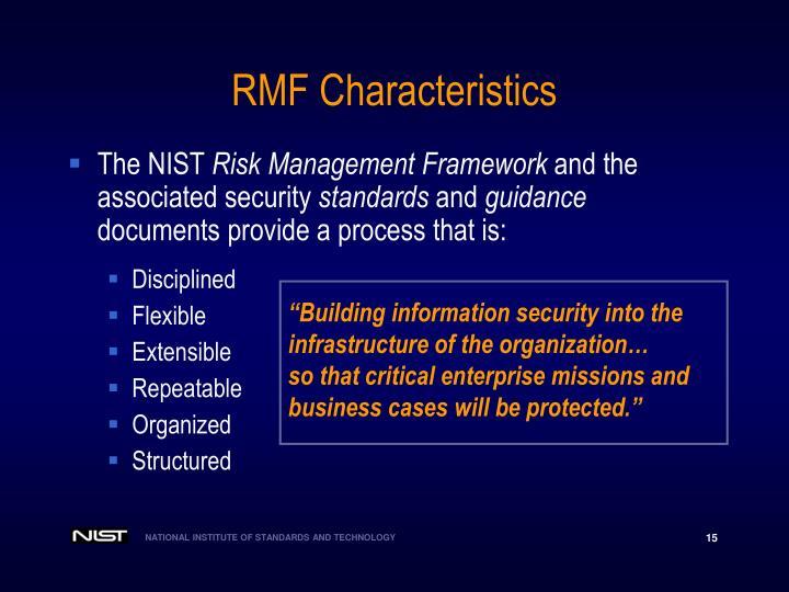 RMF Characteristics