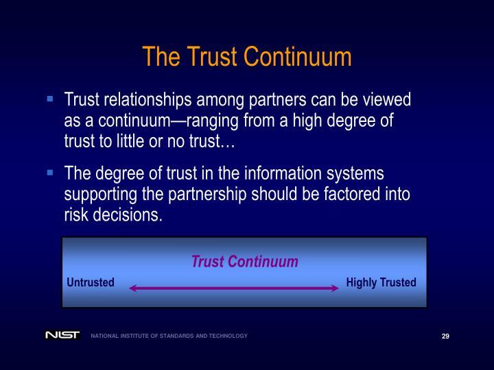 The Trust Continuum