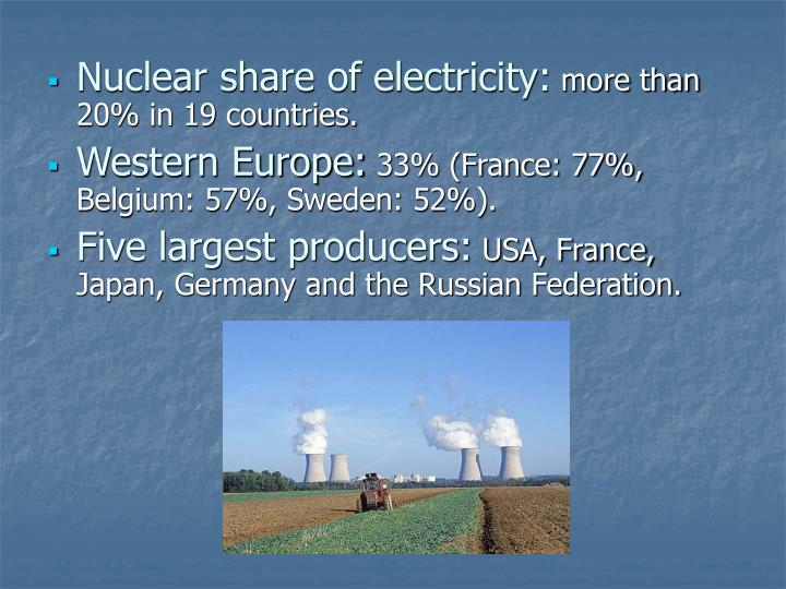 Nuclear share of electricity: