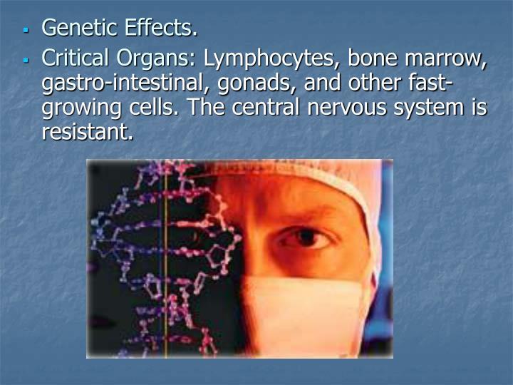 Genetic Effects.