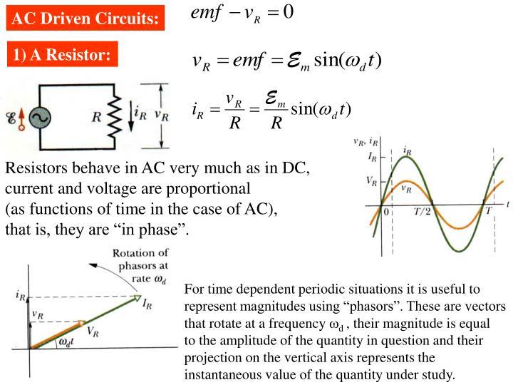 AC Driven Circuits: