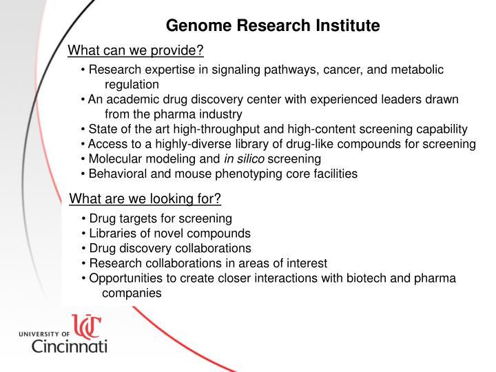 Genome Research Institute