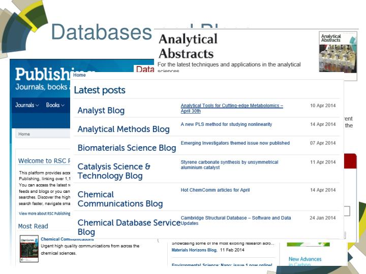 Databases and Blogs