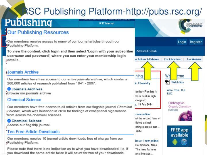 RSC Publishing Platform-