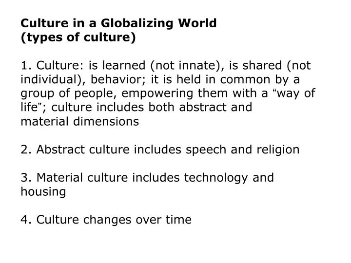 Culture in a Globalizing World