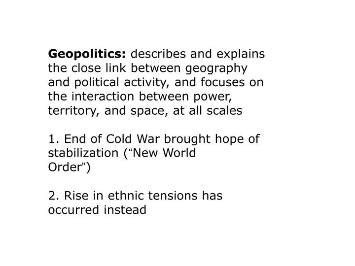 Geopolitics: