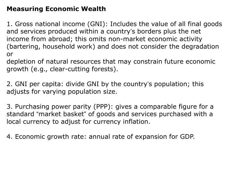 Measuring Economic Wealth