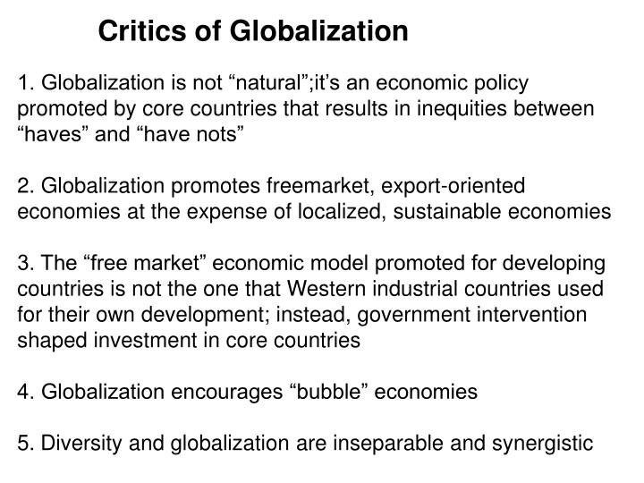 Critics of Globalization