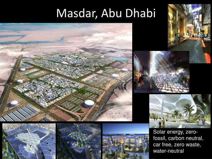 Masdar, Abu Dhabi