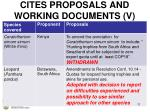 cites proposals and working documents v