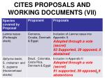 cites proposals and working documents vii