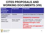 cites proposals and working documents viii