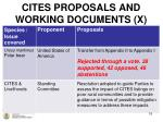 cites proposals and working documents x