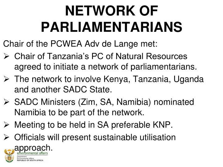 NETWORK OF PARLIAMENTARIANS