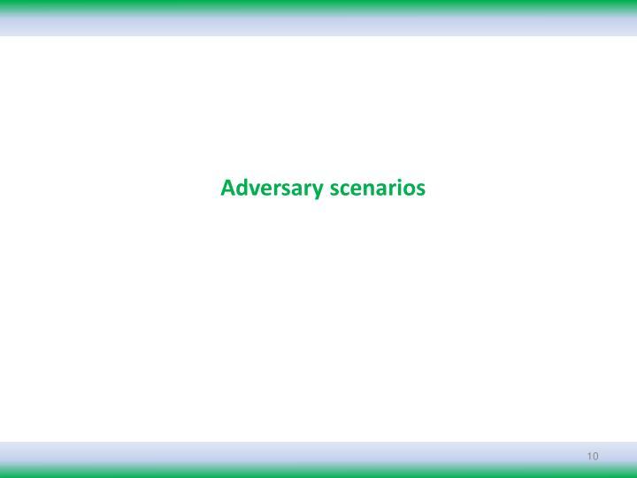 Adversary scenarios