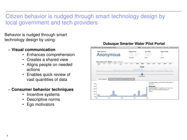 Citizen behavior is nudged through smart technology design by local government and tech providers