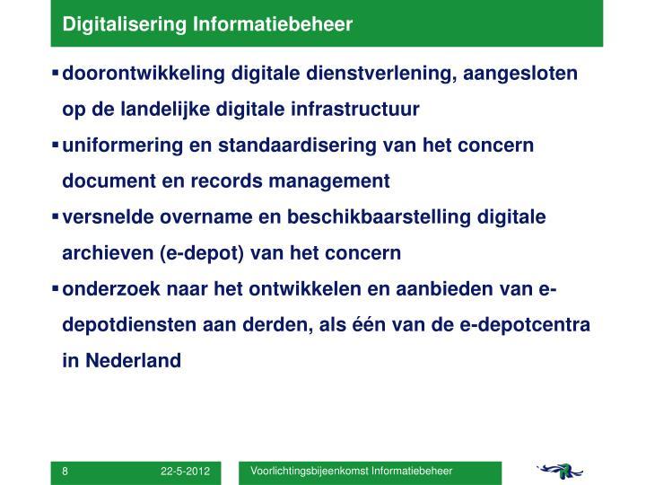 Digitalisering Informatiebeheer