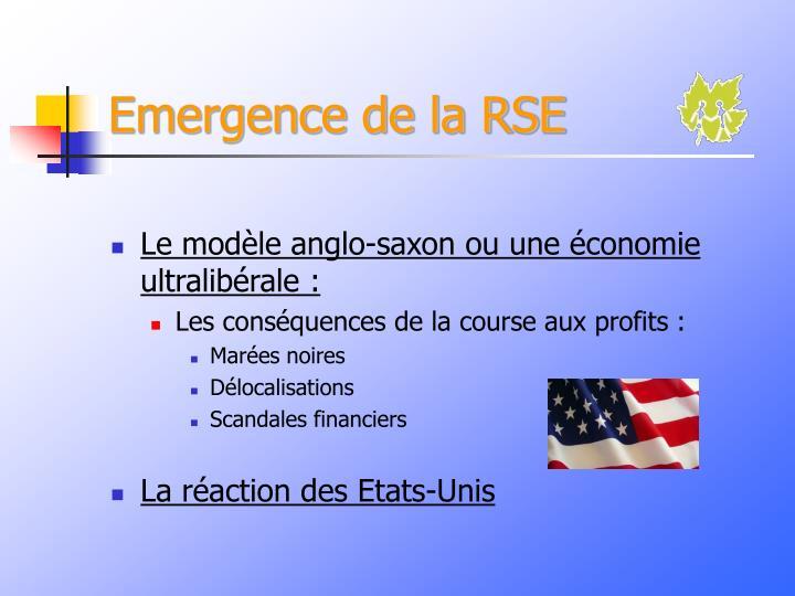 Emergence de la RSE