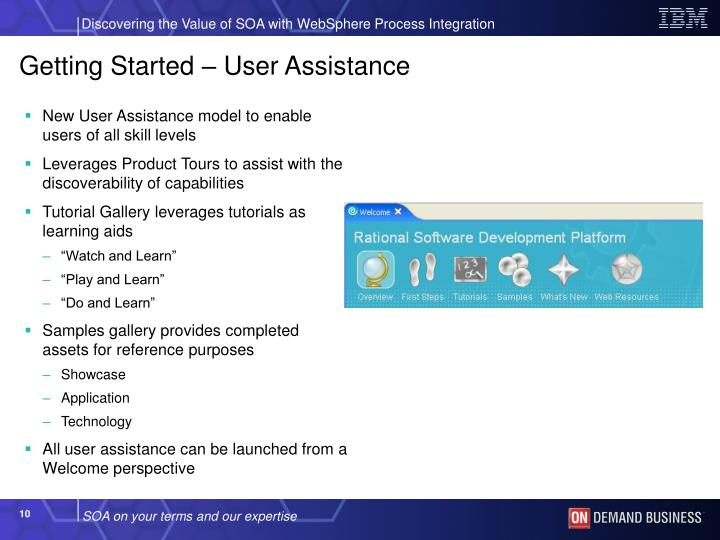 Getting Started – User Assistance