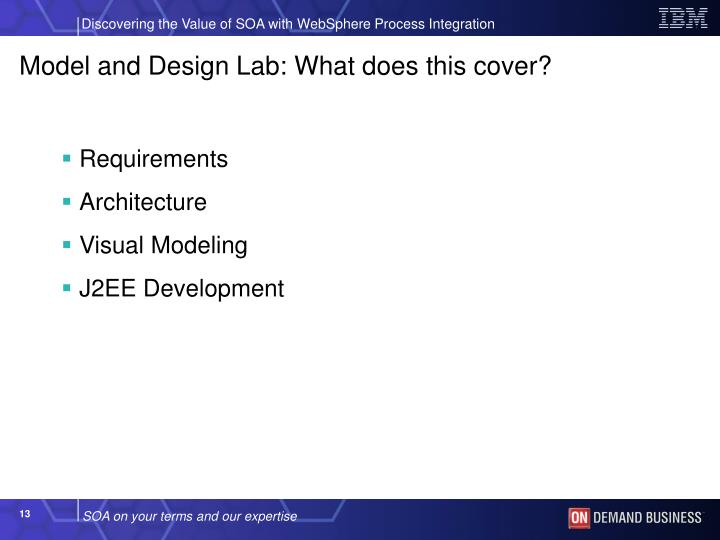 Model and Design Lab: What does this cover?