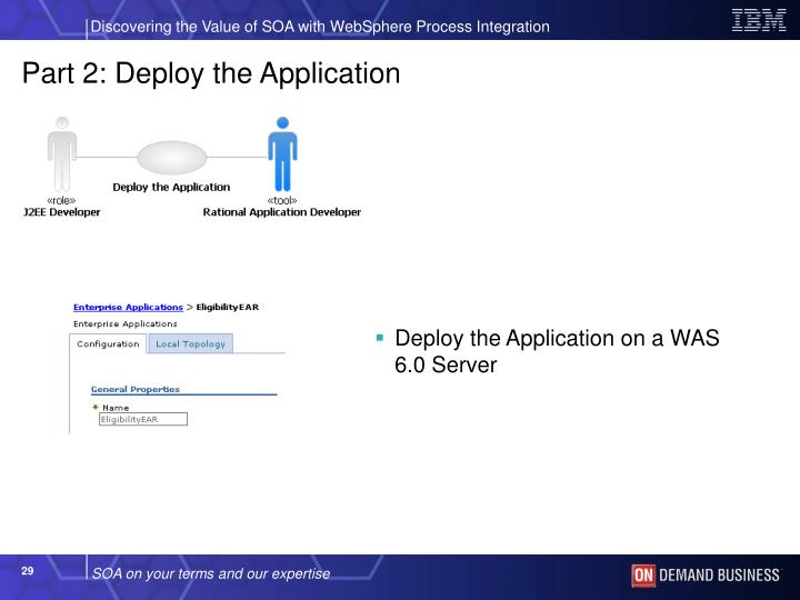Part 2: Deploy the Application
