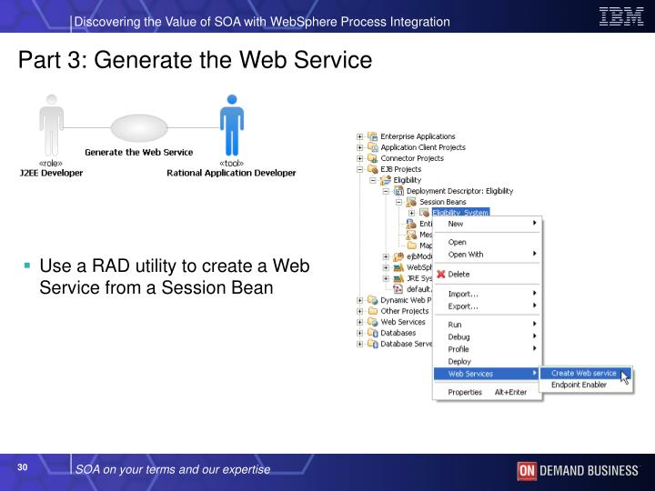 Part 3: Generate the Web Service