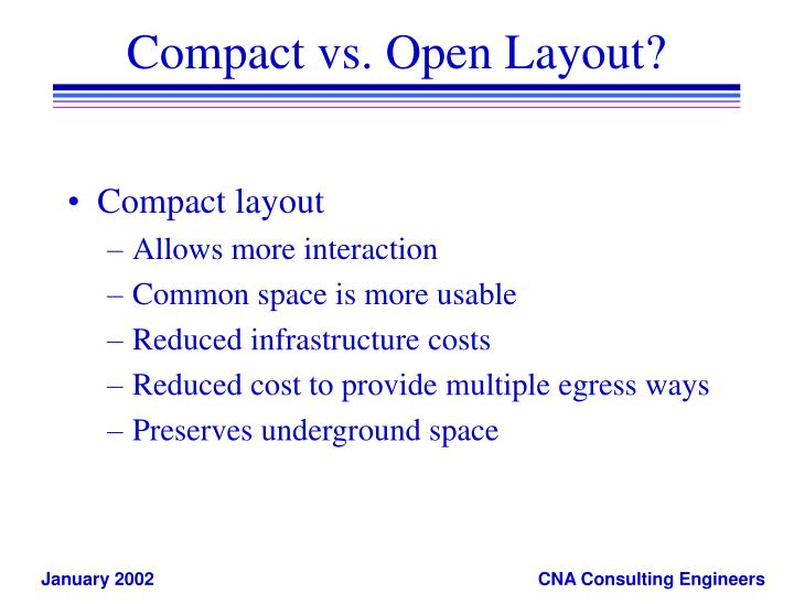 Compact vs. Open Layout?