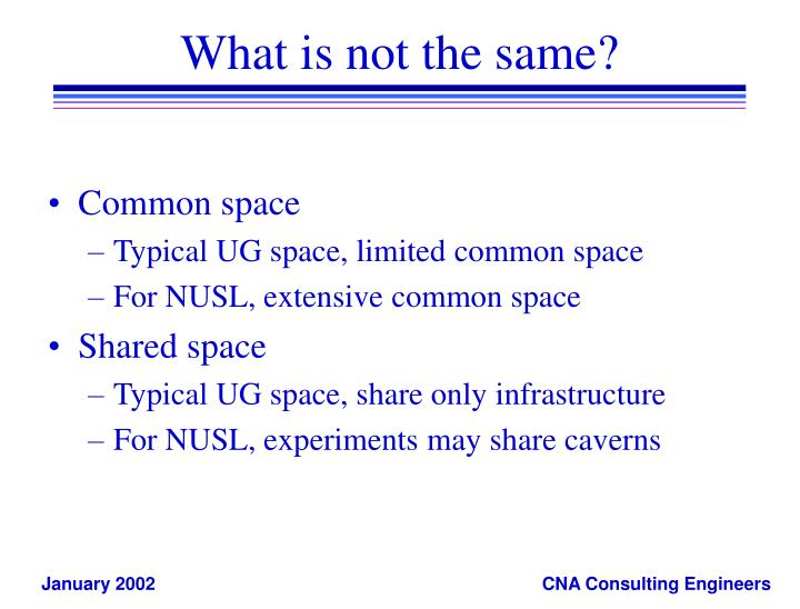 What is not the same?