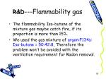 r d flammability gas