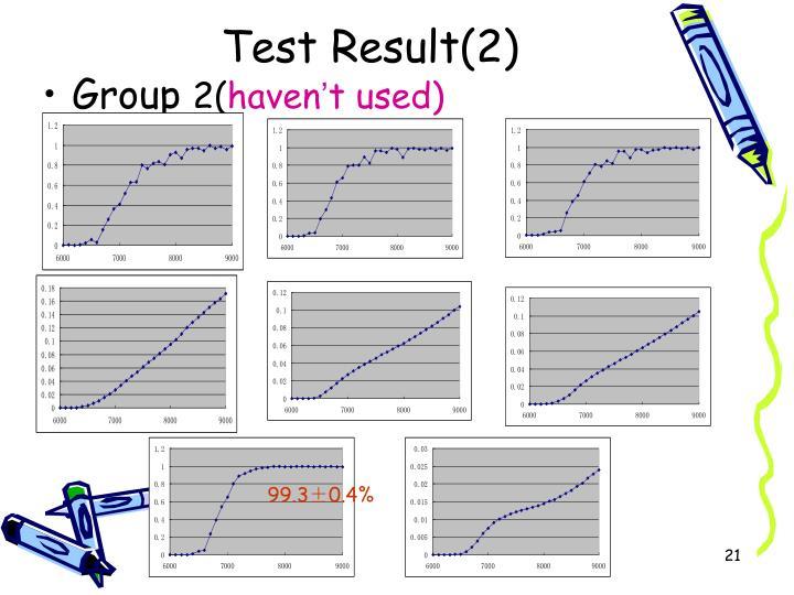 Test Result(2)