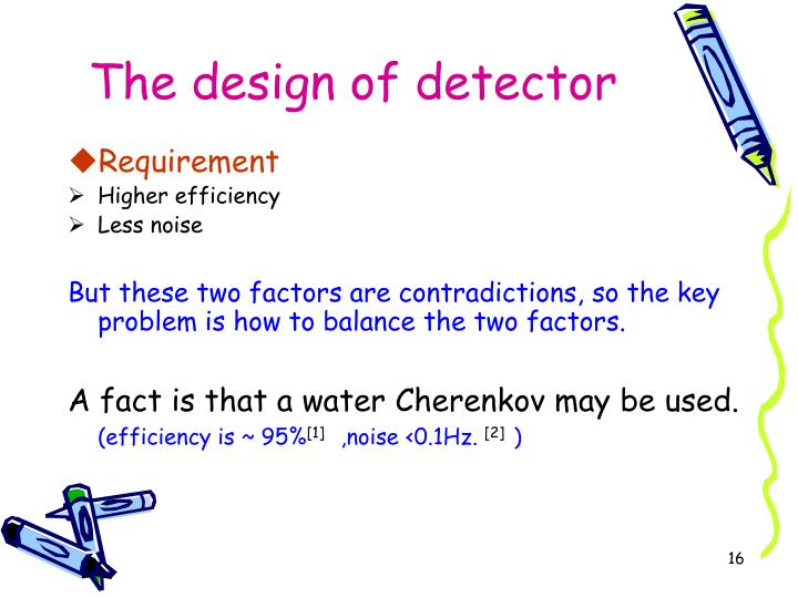 The design of detector