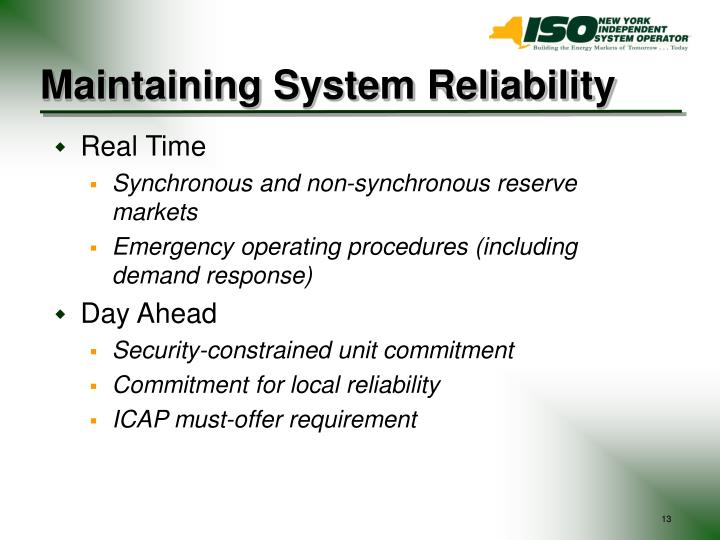 Maintaining System Reliability