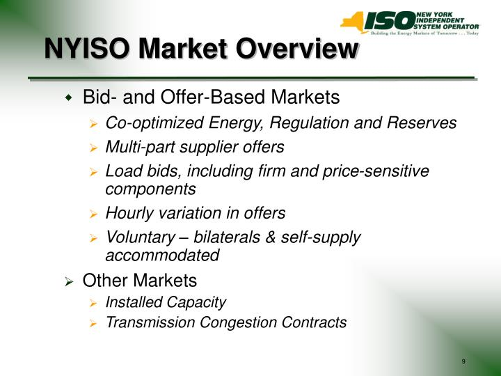 NYISO Market Overview