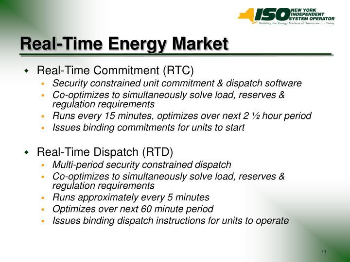 Real-Time Energy Market