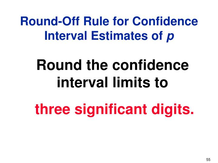 Round-Off Rule for Confidence Interval Estimates of